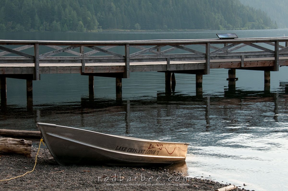 Barbee_120719_3_6781 |  Dock and rowboat at Lake Crescent Lodge