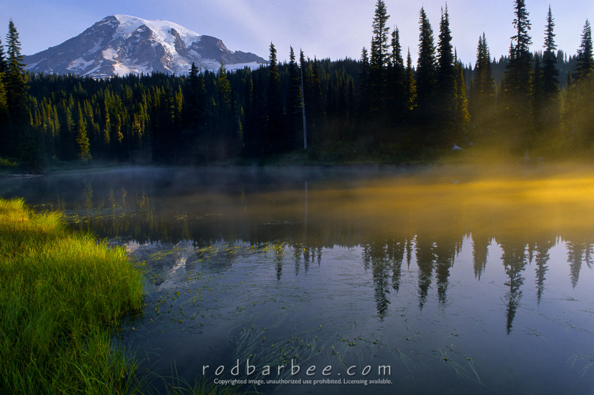 Barbee_13509 |  Mt. Rainier and Reflection Lake, early morning.