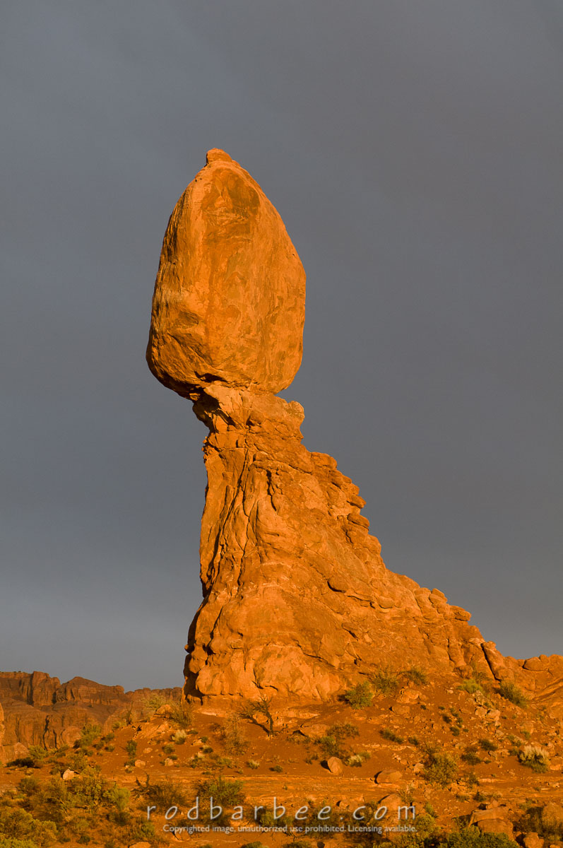 Barbee_090415_3_9317 |  Balanced Rock at sunset