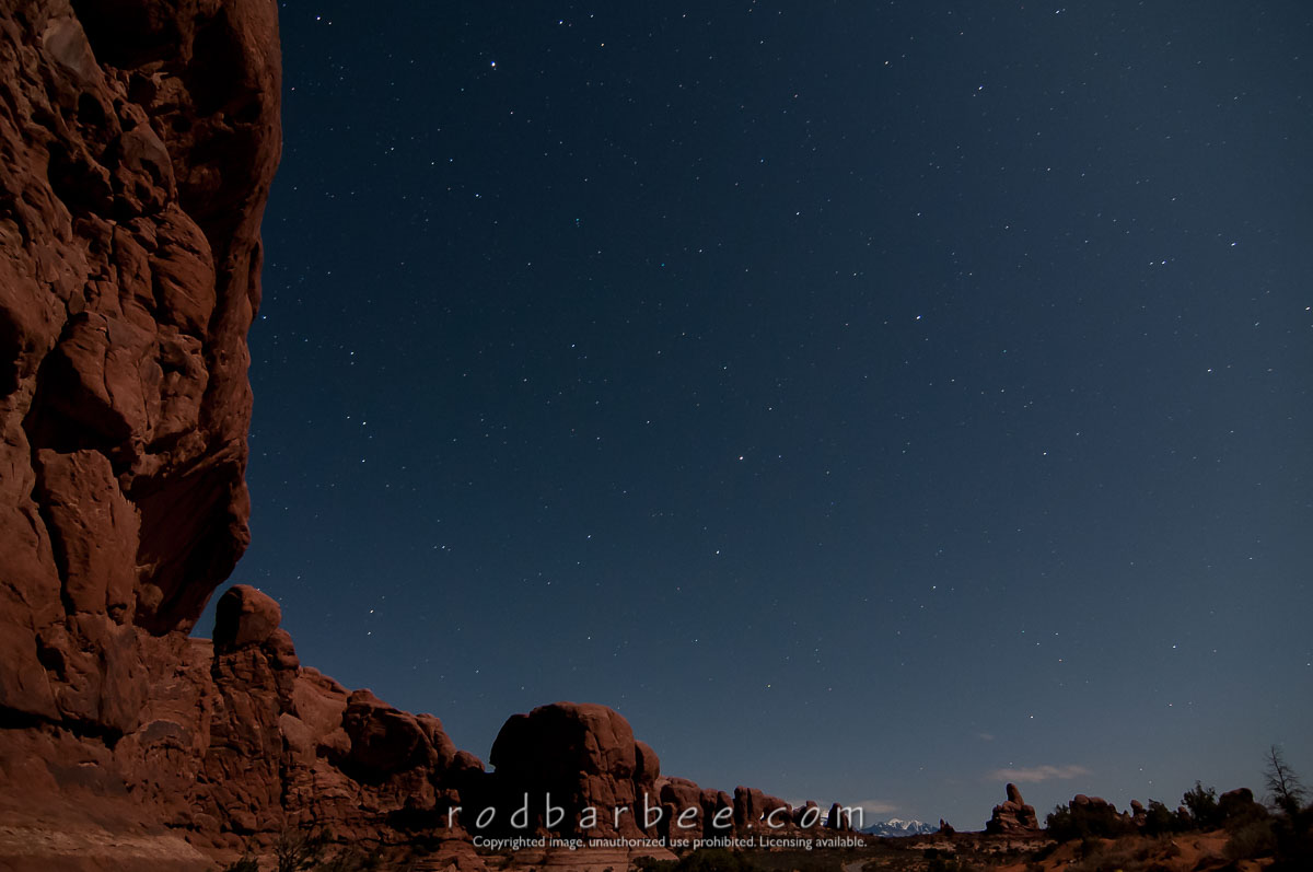 Barbee_130420_3_1397 |  Looking toward Turret Arch from Double Arch at night.