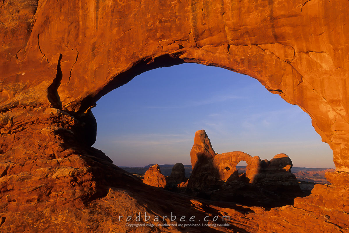 barbee_11911 |  Turret Arch through North Window, Arches National Park, UT