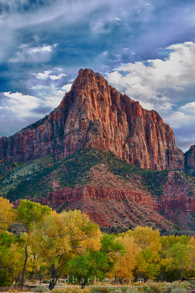Barbee_111105_3_4679_HDR    The Watchman over South Campground. HDR image.
