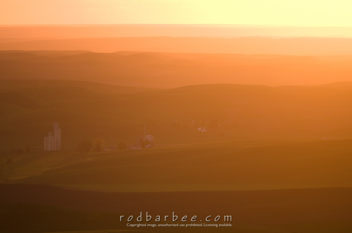 Barbee_100619_3_4561 |  Sunset from Steptoe Butte, Palouse region of southwest Washington state.