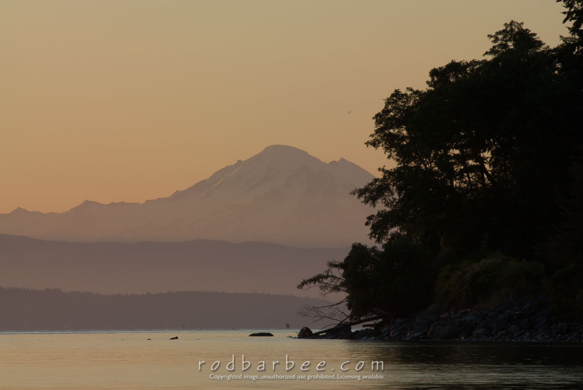 Barbee_060623_2_1035 |  Mt. Baker at sunrise, from  North Beach, Orcas Island