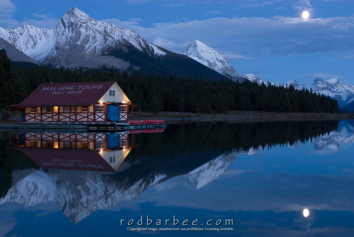 Barbee_070923_2_1116 |  Boathouse on Maligne Lake, Jasper National Park, Alberta
